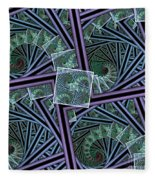 Spiral Staircases Fleece Blanket