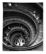 Spiral Stairs Horizontal Fleece Blanket