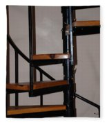 Spiral Stairs Fleece Blanket