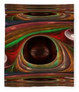 Spiral Warp Fleece Blanket