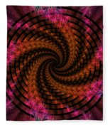 Spiraling Into The Abyss Fleece Blanket