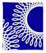 Spirals With Blue Fleece Blanket