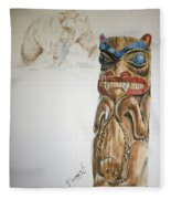 Spirit Bear Fleece Blanket