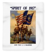 Spirit Of 1917 - Join The Us Marines  Fleece Blanket