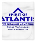 Spirit Of Atlantis Logo Fleece Blanket