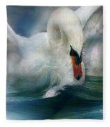 Spirit Of The Swan Fleece Blanket