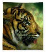 Spirit Of The Tiger Fleece Blanket