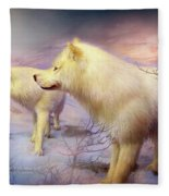 Spirit Of The White Wolf Fleece Blanket