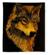 Spirit Wolf Fleece Blanket