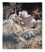 Spirits In Sleepy Hollow Fleece Blanket