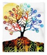 Spiritual Art - Tree Of Life Fleece Blanket