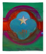 Spiritual Green Fleece Blanket