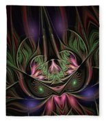Spiritual Mask Fleece Blanket