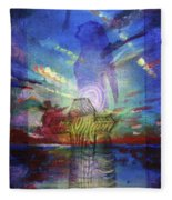 Spiritual Rising At Sunset Fleece Blanket