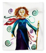 Spiritual Warrior Fleece Blanket