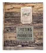 Spitting Prohibited Fleece Blanket