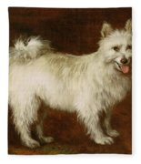 Spitz Dog Fleece Blanket