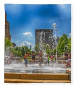 Splashville Of Asheville Fleece Blanket