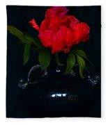 Splendid Peony In Vase. Fleece Blanket