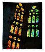 Splendid Stained Glass Windows Fleece Blanket