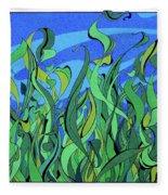 Splendor In The Grass Fleece Blanket