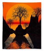 Splintered  Sunlight- Fleece Blanket