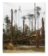 Splintered Trees Fleece Blanket