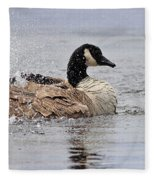 Splish Splash - Canada Goose Fleece Blanket