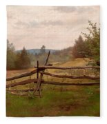 Split Rail Fence Fleece Blanket