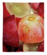 Split Red Grapes Fleece Blanket