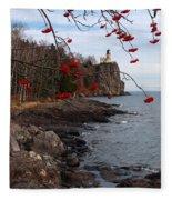 Split Rock Berries Fleece Blanket