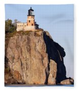 Split Rock Lighthouse Crop 9321 Fleece Blanket