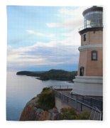 Split Rock Lighthouse Four Fleece Blanket