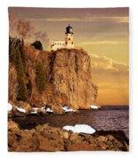 Split Rock Lighthouse Fleece Blanket