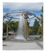 Spokane Fountain Fleece Blanket