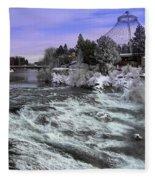 Spokane Pavilion Winter Fleece Blanket