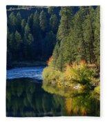 Spokane Rivereflections Fleece Blanket