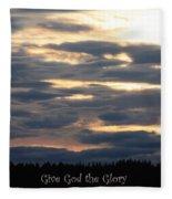 Spokane Sunset - Give God The Glory Fleece Blanket