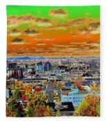 Spokane Washington Earth Fleece Blanket