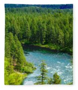 Spokane...the River And The City Fleece Blanket
