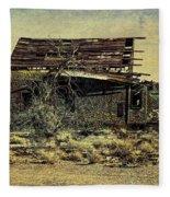 Spooky Broken House Fleece Blanket