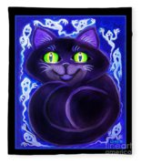Spooky Cat Fleece Blanket