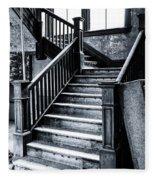 Spooky Grand Staircase Fleece Blanket
