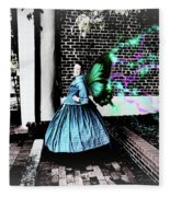 Spooky Historic Butterfly Dahlonega  Fleece Blanket