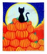 Spooky The Pumpkin King Fleece Blanket
