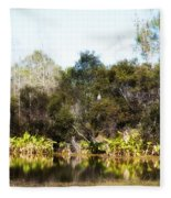 Spoon Bill Swamp Fleece Blanket