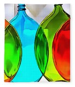 Spoon Bottles-rainbow Theme Fleece Blanket