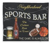 Sports Bar Fleece Blanket