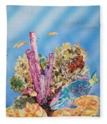 Spotlight Parrotfish Fleece Blanket