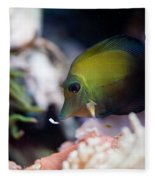 Spotted Aquarium One Fish Fleece Blanket